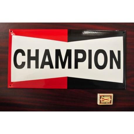 Smaltovaná cedulka CHAMPION