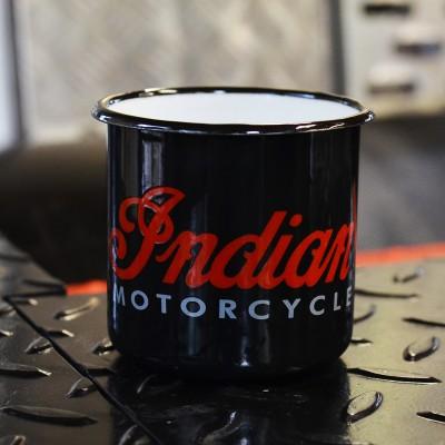 Smaltovaný hrnek INDIAN MOTORCYCLE černý