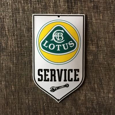 Smaltovaná cedulka LOTUS SERVICE