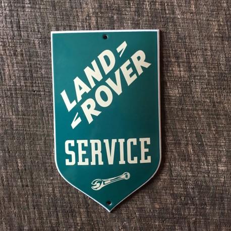 Smaltovaná cedulka LAND ROVER SERVICE