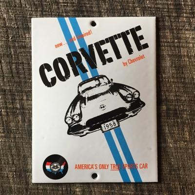 Smaltovaná cedulka CORVETTE