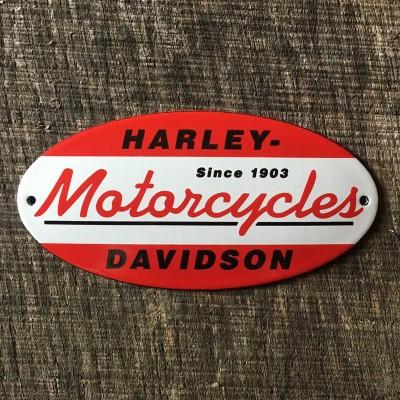 Smaltovaná cedulka HARLEY-DAVIDSON MOTORCYCLES