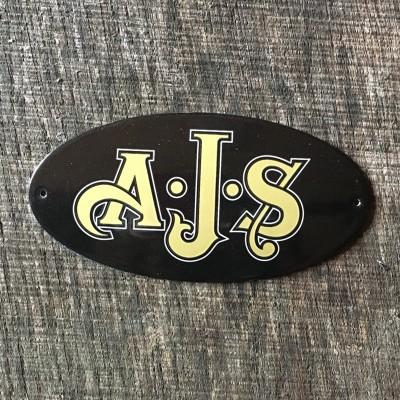 Smaltovaná cedulka AJS