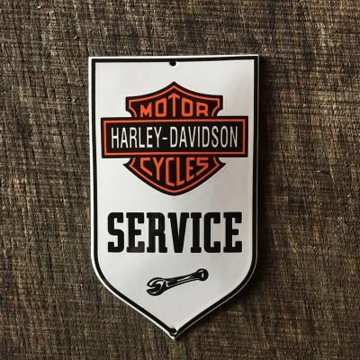 Smaltovaná cedulka HARLEY DAVIDSON SERVICE