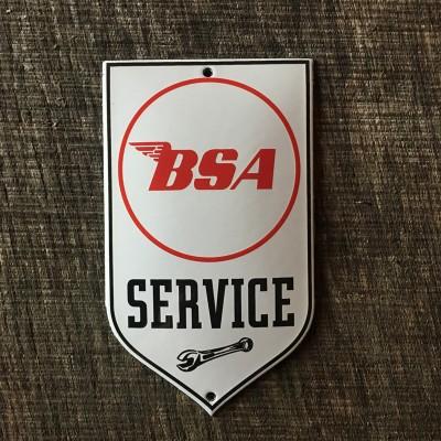 Smaltovaná cedulka BSA SERVICE
