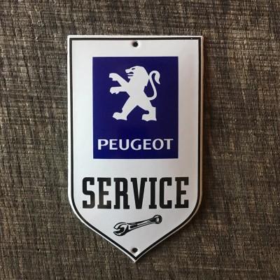 Smaltovaná cedulka PEUGEOT SERVICE