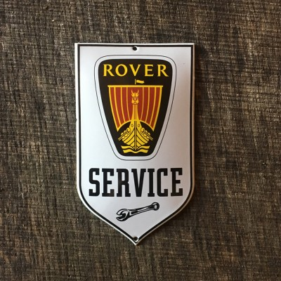 Smaltovaná cedulka ROVER SERVICE