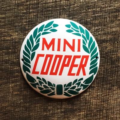 Smaltovaná cedulka MINI COOPER