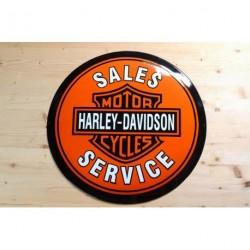 Smaltovaná cedule HARLEY-DAVIDSON SALES SERVICE