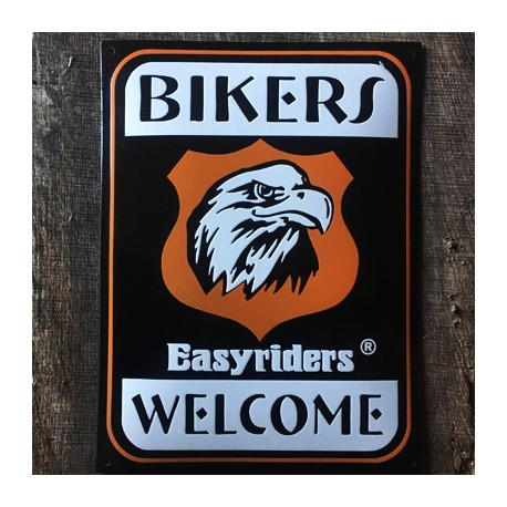 Smaltovaná cedule BIKERS WELCOME EASYRIDERS