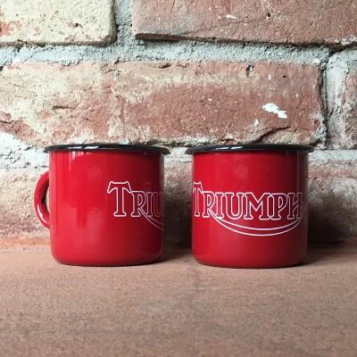 Smaltovaný hrnek TRIUMPH - červený