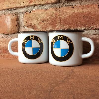 Smaltovaný hrnek BMW