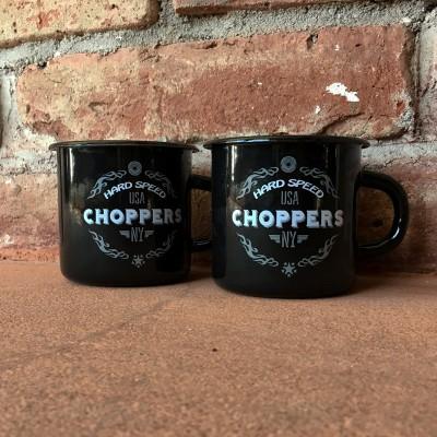 Smaltovaný hrnek CHOPPERS černý