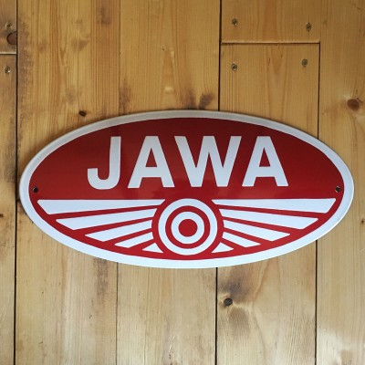 Smaltovaná cedule JAWA PIONÝR 46 cm