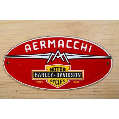 Smaltovaná cedulka AERMACHI HARLEY DAVIDSON