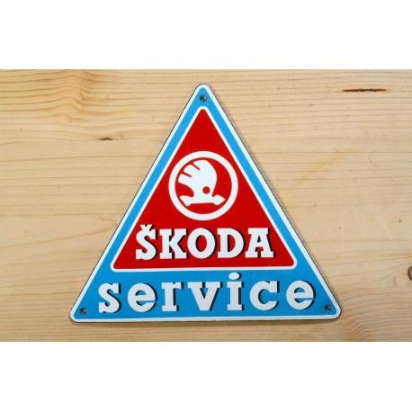Smaltovaná cedulka ŠKODA SERVICE