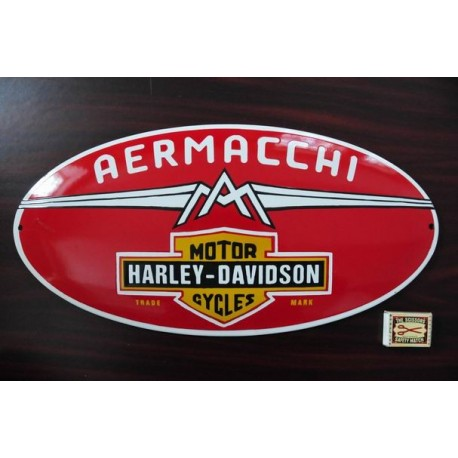 Smaltovaná cedule HARLEY-DAVIDSON AERMACHI