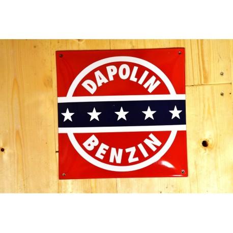 Smaltovaná cedule DAPOLIN BENZIN