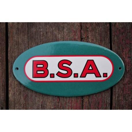Smaltovaná cedulka BSA