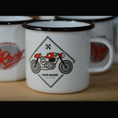 Smaltovaný hrnek CAFE RACER