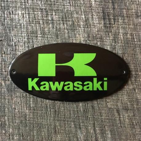 Smaltovaná cedulka KAWASAKI