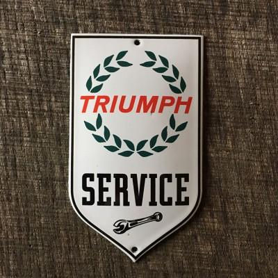 Smaltovaná cedulka TRIUMPH SERVICE