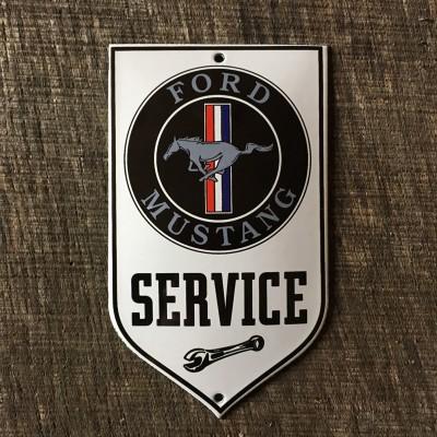 Smaltovaná cedulka FORD MUSTANG SERVICE