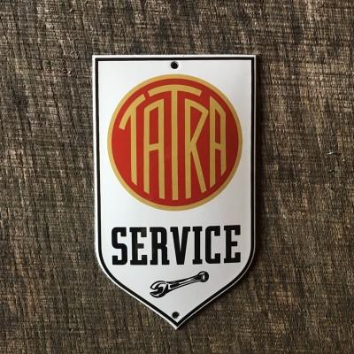 Smaltovaná cedulka TATRA SERVICE