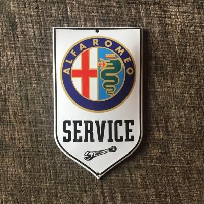 Smaltovaná cedulka ALFA ROMEO SERVICE
