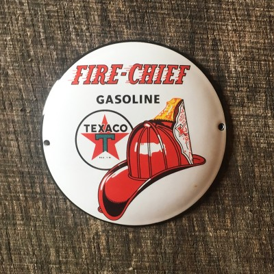 Smaltovaná cedulka FIRE CHIEF