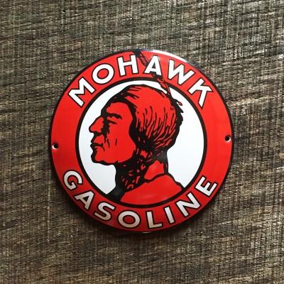 Smaltovaná cedulka MOHAWK GASOLINE