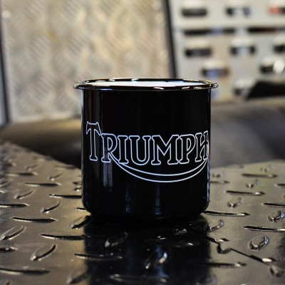 Smaltovaný hrnek TRIUMPH - černý