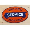 Smaltovaná cedule UNITED SERVICE MOTORS
