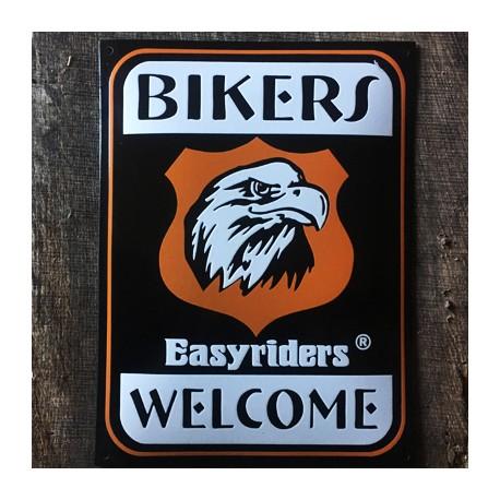 Smaltovaná cedule BIKERS WELCOME EASYRIDERS