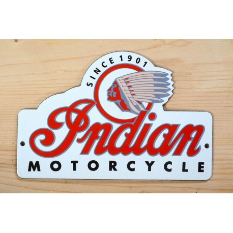 Smaltovaná cedulka INDIAN MOTORCYCLE