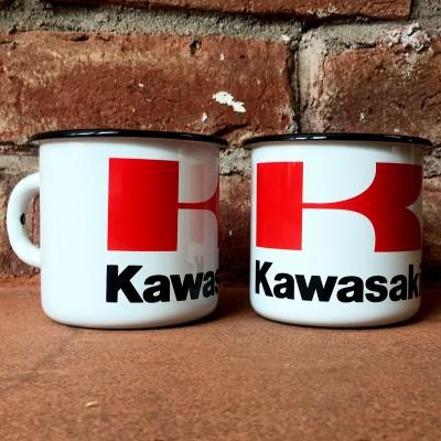 Smaltovaný hrnek KAWASAKI