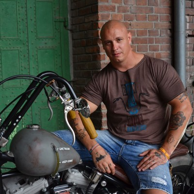 Pánské motorkářské tričko BORN TO RIDE EASYRIDERS