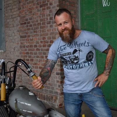 Pánské motorkářské tričko TWO WHEELS