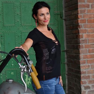 Motorkářské dámské tričko RIDE YOUR WAY