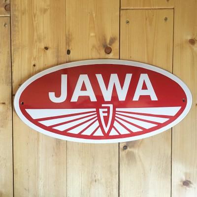 Smaltovaná cedule JAWA František Janeček 30 cm
