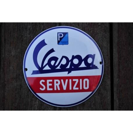 Smaltovaná cedulka VESPA SERVIZIO 30 cm