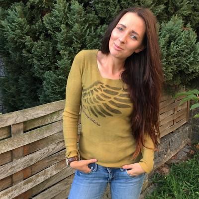 Dámský svetr Easyriders žlutozelený