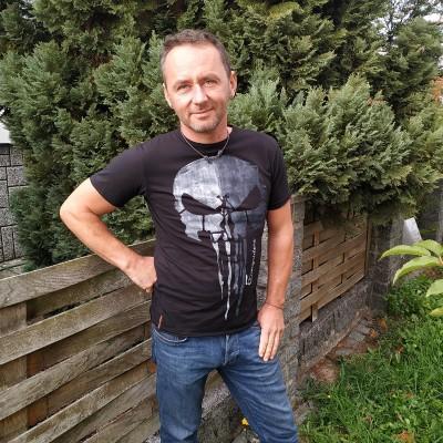 Pánské tričko SKULL černé