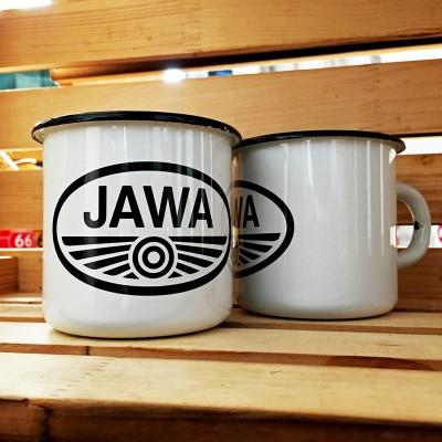 Smaltovaný hrnek JAWA