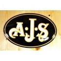 Smaltovaná cedule AJS