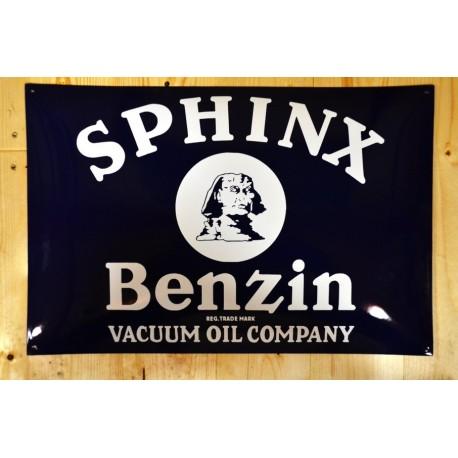 Smaltovaná cedule SPHINX BENZIN