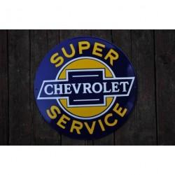 Smaltovaná cedule SUPER SERVICE CHEVROLET