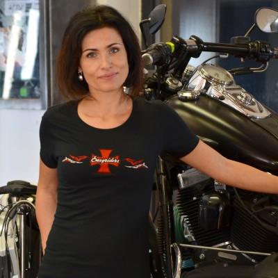Motorkářské dámské tričko RED CROSS