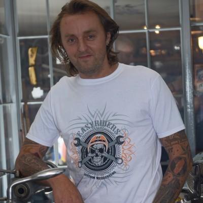 Pánské motorkářské tričko LEBKA