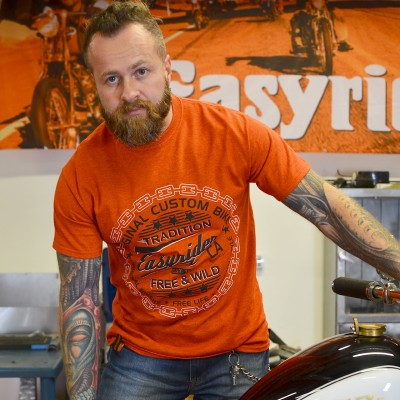 Pásnké motorkářské tričko ORIGINAL CUSTOM BIKE